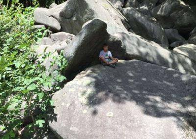 Kletterpause im Schatten
