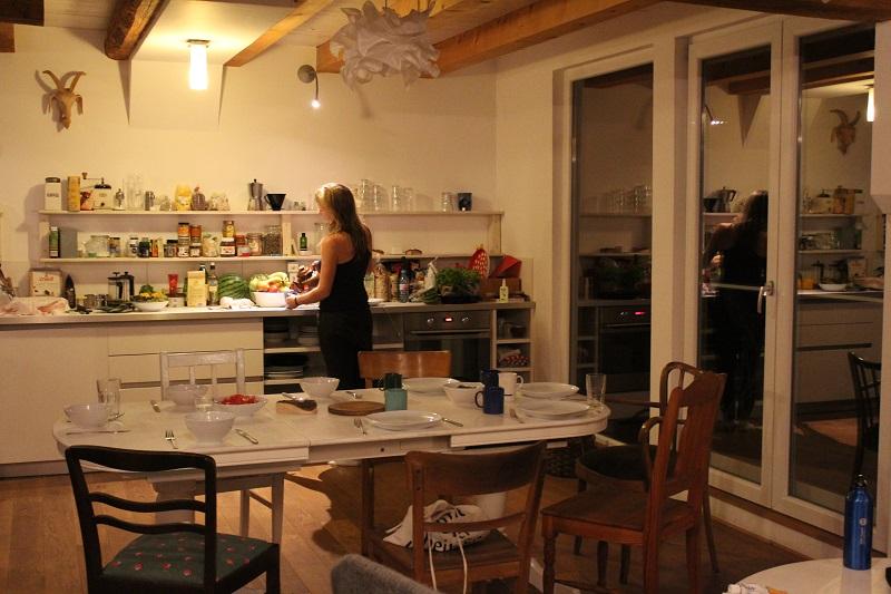 Vorbeitung zum Abendessen